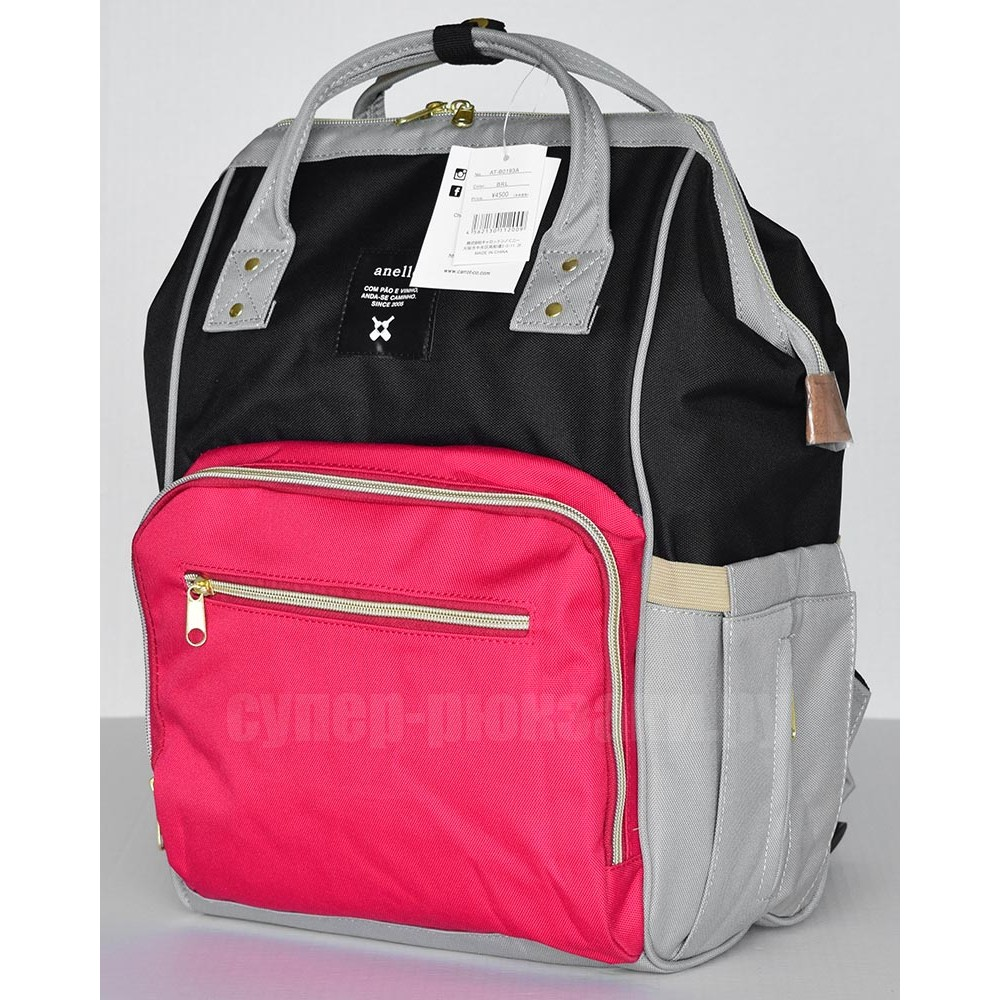 Японский рюкзак-сумка Anello universal черно-красно-серый (black-red-grey) AT-B0193A-U BRG