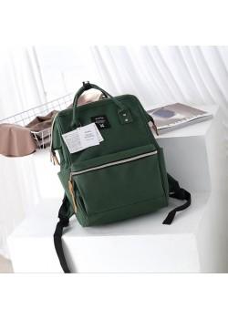 Японский рюкзак-сумка Anello city темно-зеленый (dark green) AT-B0193A DG