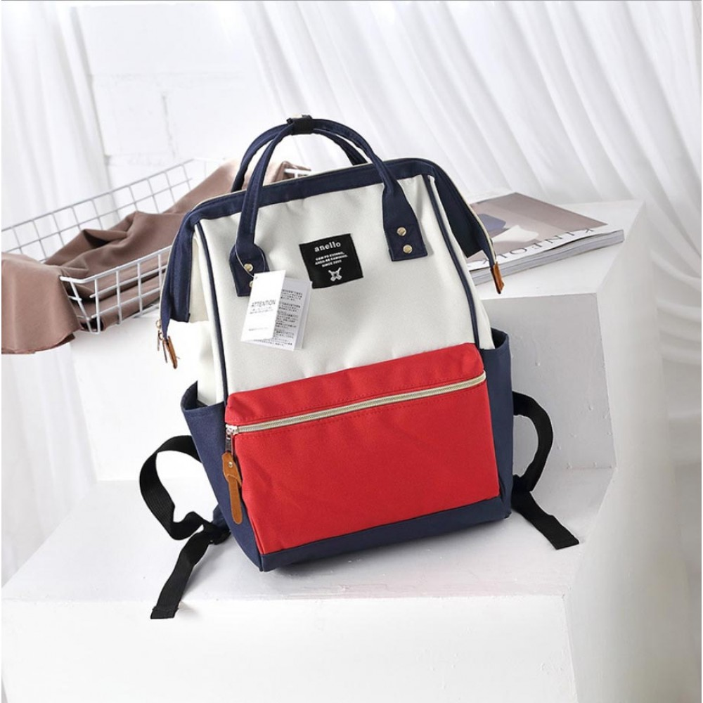 Японский рюкзак-сумка Anello Big (красно-бело-синий).