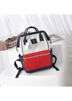 Японский рюкзак-сумка Anello Big бело-красно-синий (white-red-blue)