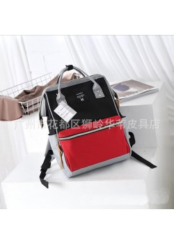 Японский рюкзак-сумка Anello city черно-красно-серый (black-red-grey) AT-B0193A BRG
