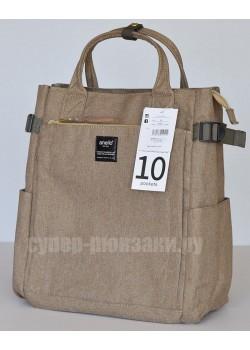 Японский рюкзак-сумка Anello AT-C1225 10 Pocket бежевый (beige)