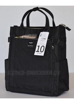 Японский рюкзак-сумка Anello AT-C1225 10 Pocket черный (black)