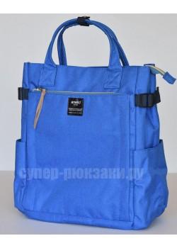 Японский рюкзак-сумка Anello AT-C1225 10 Pocket синий (blue)
