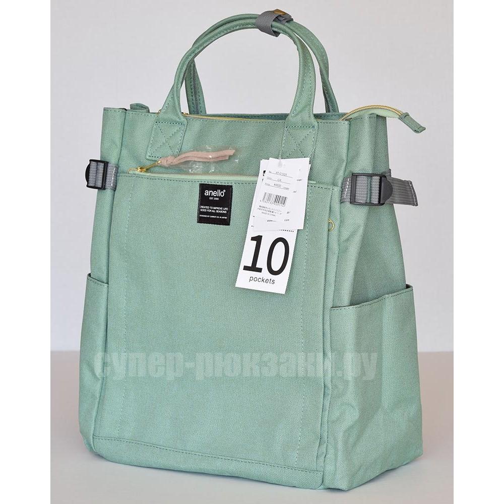 Японский рюкзак-сумка Anello AT-C1225 10 мятный (mint)