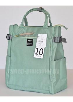 Японский рюкзак-сумка Anello AT-C1225 10 Pocket мятный (mint)