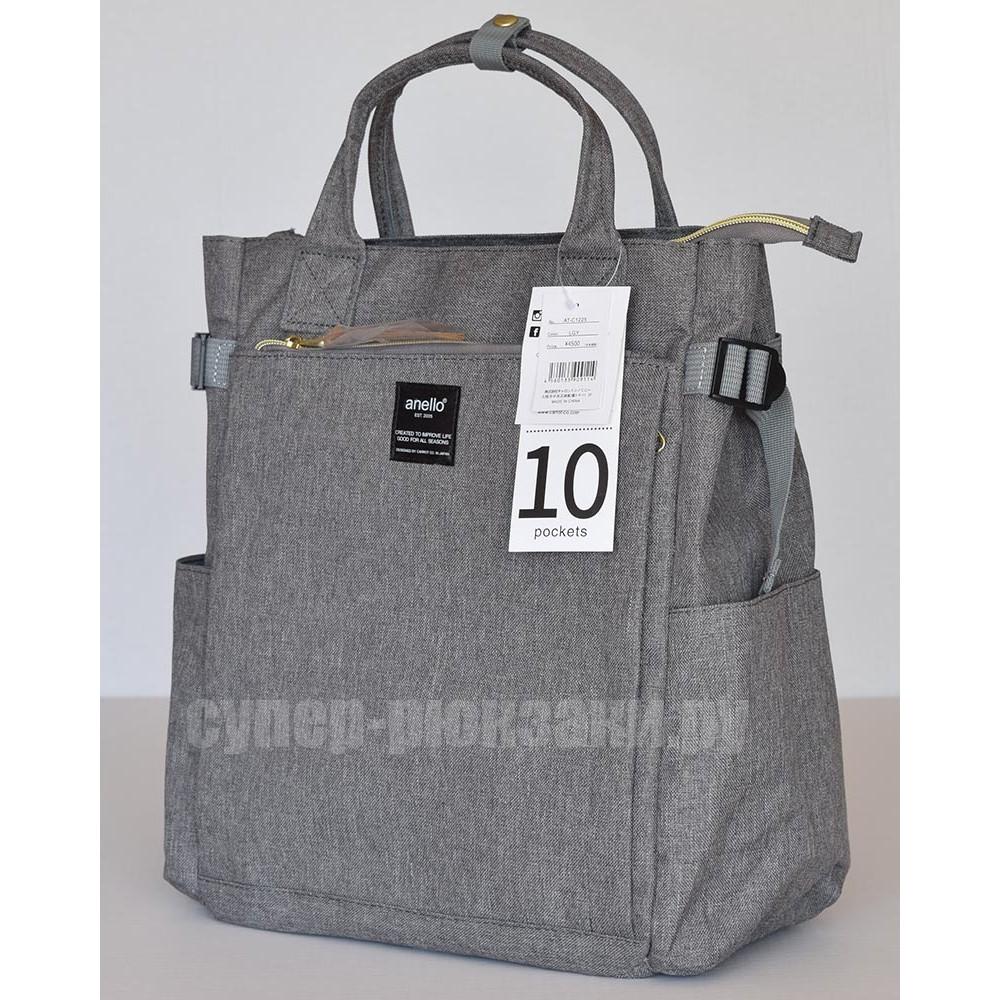 Японский рюкзак-сумка Anello AT-C1225 10 серый (gray)