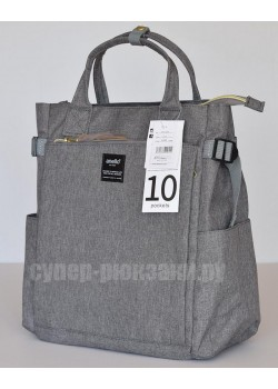 Японский рюкзак-сумка Anello AT-C1225 10 Pocket серый (gray)