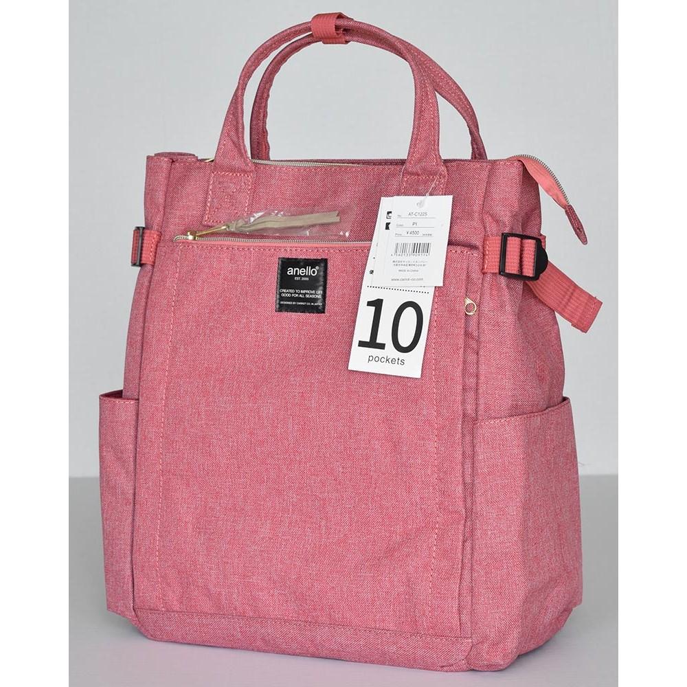 Японский рюкзак-сумка Anello AT-C1225 10 розовый (pink)