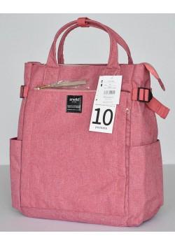 Японский рюкзак-сумка Anello AT-C1225 10 Pocket розовый (pink)