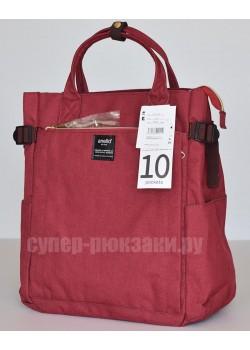 Японский рюкзак-сумка Anello AT-C1225 10 Pocket винный (vinous)