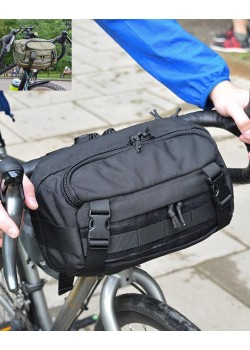 Сумка на руль велосипеда SUPER RUKZAKI (V3), универсальная, 5л. черная