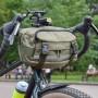 Сумка на руль велосипеда SUPER RUKZAKI универсальная, (версия 3), 5л. олива