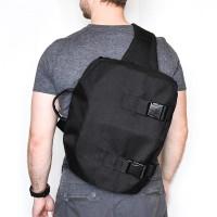 """Однолямочный рюкзак SUPER-RUKZAKI """"CITY 2 33*27*15"""" черный"""