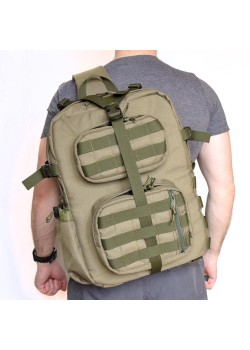 "Однолямочный рюкзак SUPER-RUKZAKI ""Хантер 42*30*23"" олива"