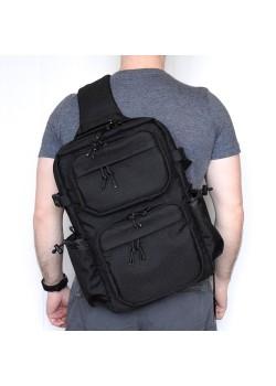 """Однолямочный рюкзак SUPER-RUKZAKI """"CITY 40*26*16"""" черный"""