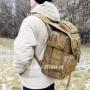 тактический рюкзак Mr. Martin 5035 койот (песочный) (на человеке вид с левого бока)