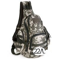 Однолямочный тактический рюкзак Mr. Martin 5053 АКУПАТ (серый пиксель)