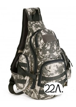 Однолямочный тактический рюкзак Mr. Martin 5053 серый пиксель (ACU)