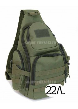 Однолямочный тактический рюкзак Mr. Martin 5053 олива (olive)