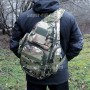 тактический рюкзак Mr. Martin 5053 мультикам (на человеке в черном вид с правого бока)
