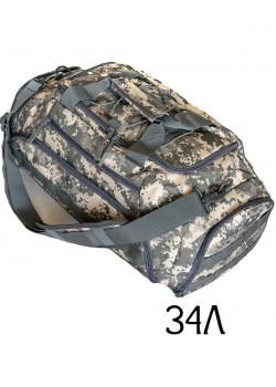 Тактический рюкзак-сумка Mr. Martin D-07 АКУПАТ (серый пиксель)