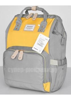 Сумка-рюкзак Picano 1816  серо-желтый (gray-yellow)