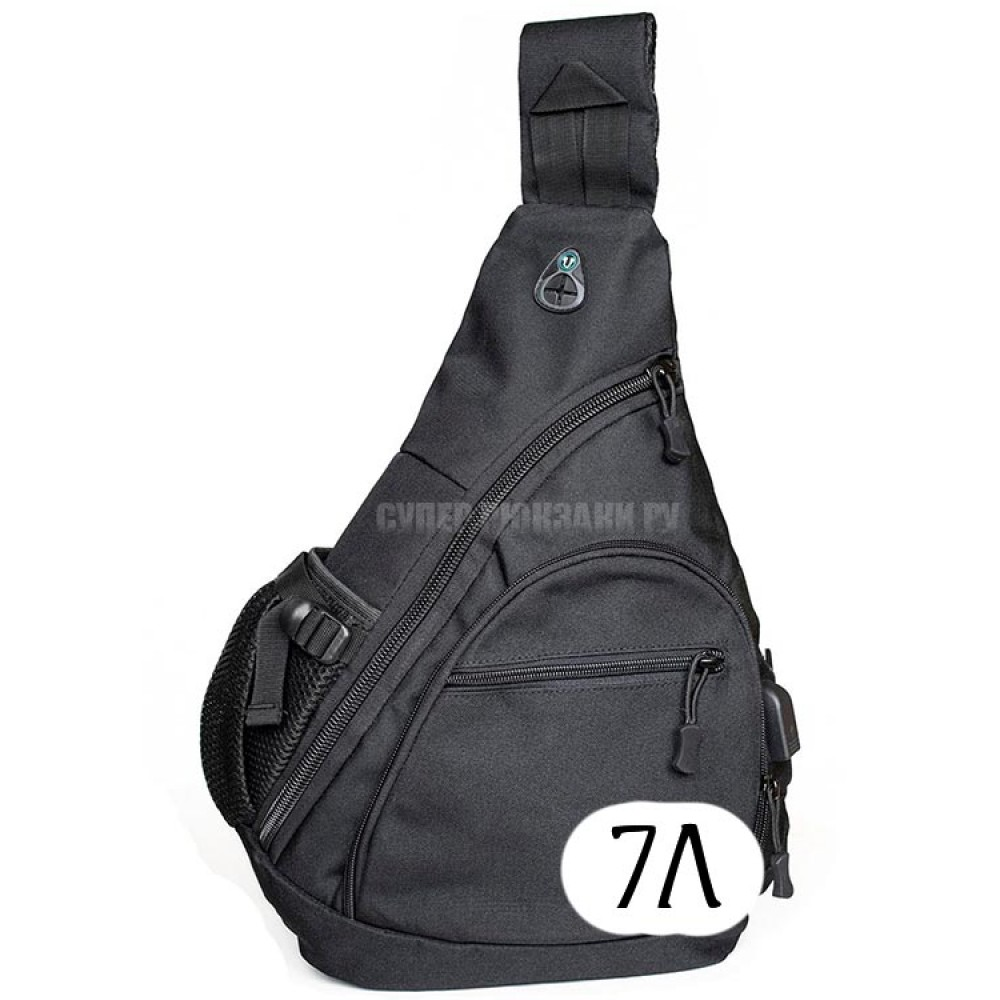 Однолямочный тактический рюкзак Mr. Martin 5908 черный