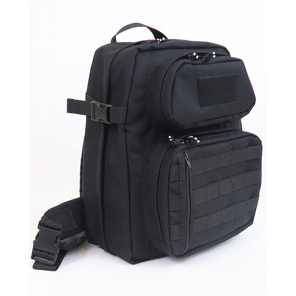 Однолямочный тактический рюкзак SUPER RUKZAKI SR 1.3 черный